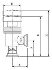 400331 - KF40 Angle Valve