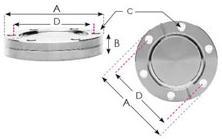"CF150 - 8.0"" Blank Flanges, Through Non-Rotatable 142651"