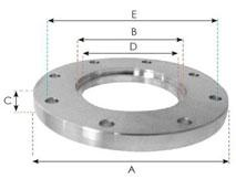 124931 - ISO 100 Bolted Weld Flange (SS