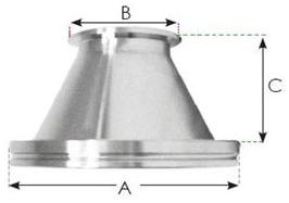KF40 - ISO100 Conical Reducer Adaptor 12634931