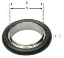 KF 16 Aluminium Viton - Centering Ring 111325