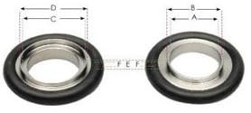 KF 20/25 Aluminium Viton O Ring Reducing Ring 1163235