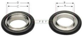 KF 10/16 Nitrile Aluminium O Ring - Reducing Ring 1173125