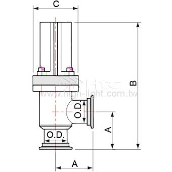 KF40 Angle Valve Pneumatically 404331
