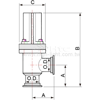KF50 Angle Valve Pneumatically 405341