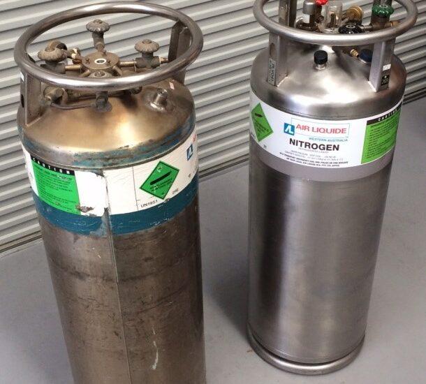 Liquid Nitrogen Tank 1 Before & After
